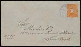 NICARAGUA. 1896. Leon - USA. Used Strat Env 10c Orange. VF. - Nicaragua