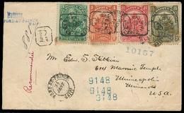 HAITI. 1903 (21 Jan). P.Prince - USA. Registered Multifkd Env. 1902 Ovptd Issue. Fine. - Haiti