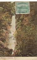 Dominica  Waterfall W.I.  Undivided Back . Stamped But Not Postally Used - Dominique