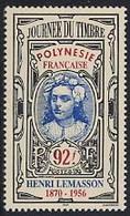 FRENCH POLYNESIA, 1996  Stampd Day - H. Lemasson 1v MNH - Polynésie Française