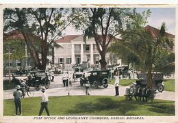 Nassau Bahamas Post Office And Legislative Chambers  Edit Sands  P. Used 1937 - Bahamas