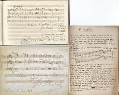CPM - HECTOR BERLIOZ - Epreuve ... Lot De 3 Cartes - Edition Musée Grenoble - Chanteurs & Musiciens