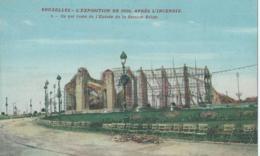 Brussel - Bruxelles - 2 - L'Exposition De 1910 Après L'incendie - Ce Qui Reste De L'Entrée De La Section Belge - Expositions Universelles