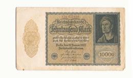 Allemagne Billet 10000 Mark 1922, ( Pliures, Déchirures, Rousseurs Taches  ) - [ 3] 1918-1933 : République De Weimar