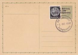 Böhmen Und Mähren Sammlerkarte Aus Alt Habendorf Sudeten 1938 - Briefe U. Dokumente