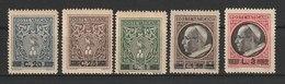 MiNr. 116 - 120 Vatikanstadt 1945, 29. Dez. Freimarken. MiNr. 103-112 Mit Aufdruck. - Ungebraucht