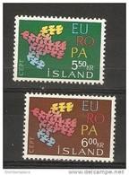 Iceland - 1961 Europa MNH **  SG 386-7 - 1944-... Republique