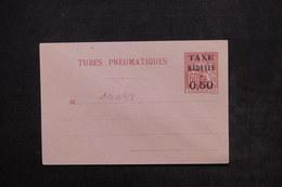 FRANCE - Enveloppe Pneumatique Type Chaplain Surchargé Non Circulé - L 24143 - Entiers Postaux