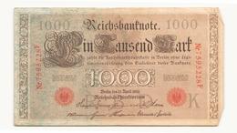 Allemagne Billet 1000 Mark 1910, ( Pliures, Déchirures, Rousseurs Taches  ) - 1871-1918: Deutsches Kaiserreich