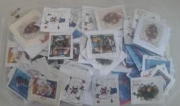 Belgique - Noël - Petit Lot De 400° - 6 Séries Différentes - Sur Fragments - Vrac (max 999 Timbres)