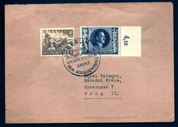 ALL-BL 15- LETTRE REICH III- TIMBRES N° 749 ET 765- GROS TAMPON BERLIN CONTRE BOLCHEVISME- 1943- - Allemagne