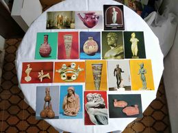 VINTAGE POSTCARD LOT X 23 CYPRUS - ART MUSEUM OBJECTS UNUSED - Chypre
