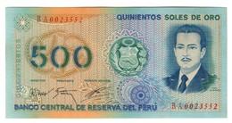 Peru 500 Soles 22/07/1976 AUNC - Peru