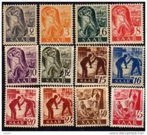 Sarre Occupation Française N° 196 / 215 XX La Série Des 20 Valeurs Sans Charnière TB - 1947-56 Occupation Alliée