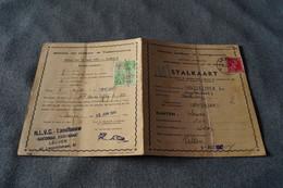 Stalkaart 1941-1942,secteur De Leuven,Vanderzypen à Kortenberg,original Avec Timbre Et Belle Oblitération,collection - Variétés Et Curiosités