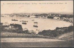 SAINT JEAN De LUZ - La Plage, Vue Générale De La Baie, Prise De Ciboure - Saint Jean De Luz