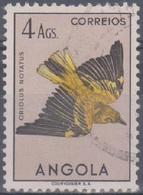 Angola Vögel 1951: Mi 350 4 A. Gestempelt - Angola
