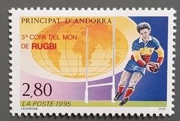 Andorre - YT N°455 - Coupe Du Monde De Rugby / Sport - 1995 - Neuf - Andorra Francesa