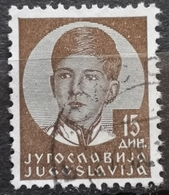KING PETER II-15 D-ERROR -H-YUGOSLAVIA - 1935 - 1931-1941 Kingdom Of Yugoslavia