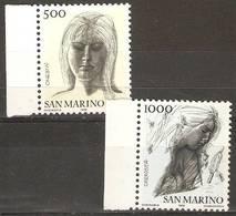 San Marino - 1976 Civil Virtues MNH **  SG 1054-5 - San Marino