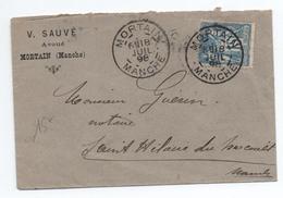 1898 - ENVELOPPE Avec EN TETE De MORTAIN (MANCHE) - TYPE SAGE - Marcophilie (Lettres)