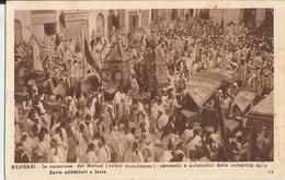 BENGASI IN OCCASIONE DEL MELLUD (NATALE MUSULMANO) CAMMELLI E AUTOMOBILI DELLE NOTABILITA' DELLE ZAVIE ADDOBBATI A FESTA - Libia