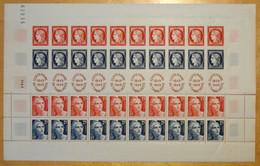 TIMBRE DE FRANCE N° 833A NEUF ** En FEUILLE COMPLETE / BANDE CENTENAIRE DU TIMBRE POSTE 1849 1949 - Feuilles Complètes