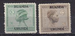 Ruanda Urundi Nr 79-80      Neufs Avec Charnière - Postfris Met Plakker - MH  (x) - Ruanda-Urundi