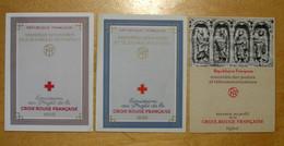 FRANCE - LOT De 3 CARNETS CROIX-ROUGE 1958 1959 1960 NEUF ** TTB (COTE 145€) - Red Cross