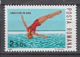 TIMBRE NEUF DE ROUMANIE - PLONGEON N° Y&T 3459 - High Diving