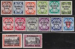 Deutsches Reich    .   Michel   .   716/729      .    *    .   Ungebraucht Mit Falz     .   /    .   Mint-hinged - Deutschland