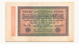 Allemagne Billet 20000 Mark, 1923 , ( Pliures, Déchirures, Rousseurs Taches  ) - 20000 Mark