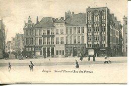 006785  Bruges - Grand'Place Et Rue Des Pierres - Brugge