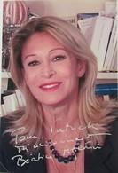 PHOTOS DEDICACEES DE  BEATRICE AGENIN - Autographs