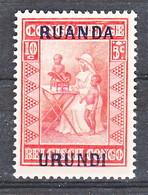 Ruanda Urundi Nr 81        Neuf Avec Charnière - Postfris Metr Plakker - MH   (x) - Ruanda-Urundi