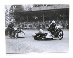 Fotografie Sport Moto - Sidecars - Monza GP Delle Nazioni 1952 - Deronne - Carru - Foto