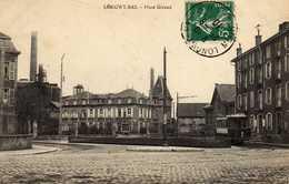 LONGWY BAS - 54 - Meurthe Et Moselle - Tramway Place Giraud - 1910 - Tampon D'ORAN - N7 - Longwy