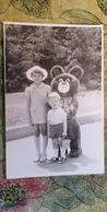 Little Boy W Olympic Bear - Old Original Photo  - Soviet Childhood - Little Boy 1980s - Anonymous Persons