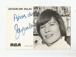 JACQUELINE DULAC CARTE AVEC AUTOGRAPHE - Autografi