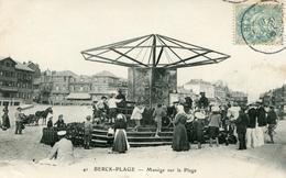 Berck Plage  Manège Sur La Plage  (théme Cirque ,fete Foraine) - Berck