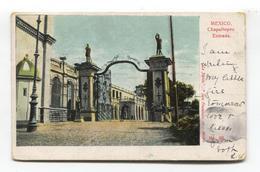 Mexico - Chapultepec, Entrada - Postcard Used In 1907 - Mexique