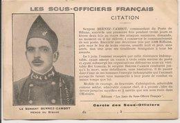 L200A573 - Les Sous Officiers Français - Sergent Bernez-Cambot -  Héros Du Bibane - Characters