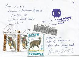 Ethiopia 2001 Gondar Woodpecker Bushbuck Registered Cover - Ethiopië