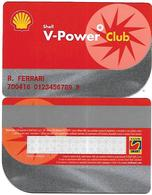 "@+ CARTE FIDELITE ""Shell"" -  Italia - R. Ferrari - Frankrijk"