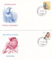 Série De 2 FDC Bouvreuil Pivoine/Sittelle Torchepot  - Oiseaux Buzin -  Timbres N°2294/5 - 1985-.. Birds (Buzin)