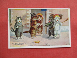Dressed Singing Cats      Ref 3198 - Chats