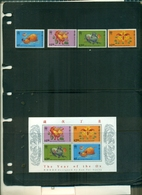 HONG KONG ANNEE DU BOEUF 4 VAL + BF NEUFS A PARIR DE 0.75  EUROS - Unused Stamps