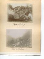 PHOTO 4 Photos Originales Collées  Huelgoat FINISTERE Eglise Chaos Et Quimper - Lieux