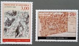 Andorre - YT N°508, 509 - Cartes Du Principat - 1998 - Neufs - Andorra Francesa