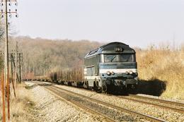 Grattery (70) 15 Mars 2005 - La A1A A1A 68537 En Tête D'un Train De Fret Port D'Atelier/Vesoul - France